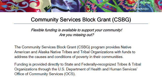 Colorful border. Community Services Block Grant- FUnding is Available - Are you Missing out?