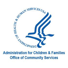 blue outline of bird - logo- Administration for Children & Families - OCS