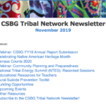 November 2019 CSBG Tribal Network Newsletter